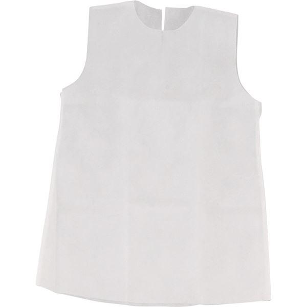 (まとめ)アーテック 衣装ベース 【S ワンピース】 不織布 ホワイト(白) 【×30セット】