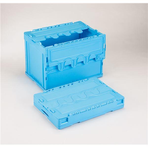 フタ付き折りたたみコンテナ/オリコン 【60L/ブルー】 CF-S61NR 岐阜プラスチック工業【代引不可】
