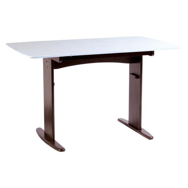 【単品】伸長式ダイニングテーブル/バタフライテーブル 【幅90cm/120cm】 ホワイト 『バター』 木製 スライドタイプ
