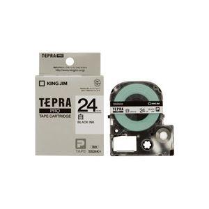 【スーパーSALE限定価格】(業務用30セット) キングジム テプラPROテープ/ラベルライター用テープ 【幅:24mm】 SS24K 白に黒文字