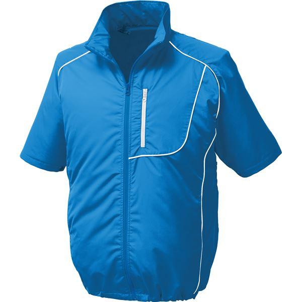 ポリエステル製半袖空調服 BP500S リチウムバッテリーセット 【カラー:ブルー×ホワイト サイズ:XL】