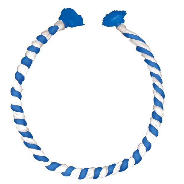 (まとめ)アーテック ねじりはちまき/鉢巻 【中芯入り】 φ11×全長950mm ブルー(青)×ホワイト(白) 【×30セット】