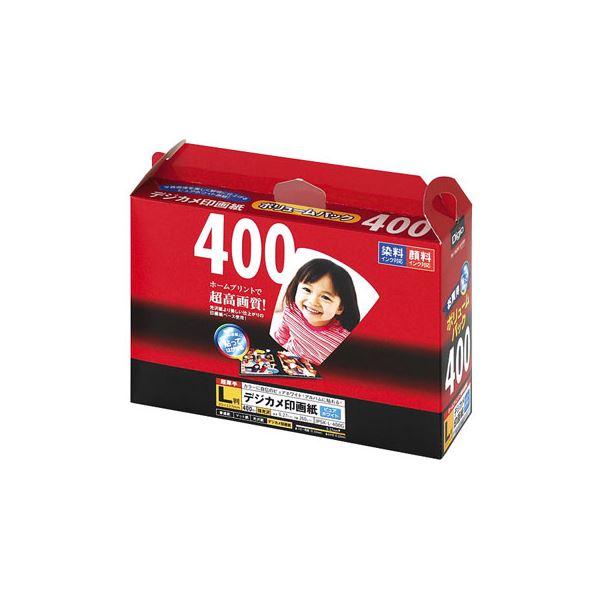 (業務用セット) インクジェット用紙 Digio デジカメ印画紙 強光沢 L判 400枚 JPSK-L-400G【×5セット】