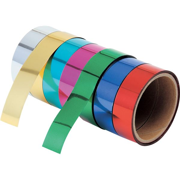 (まとめ)アーテック ミラーテープ 【藍色】 10本組 18mm×8m 粘着加工無し 【×5セット】