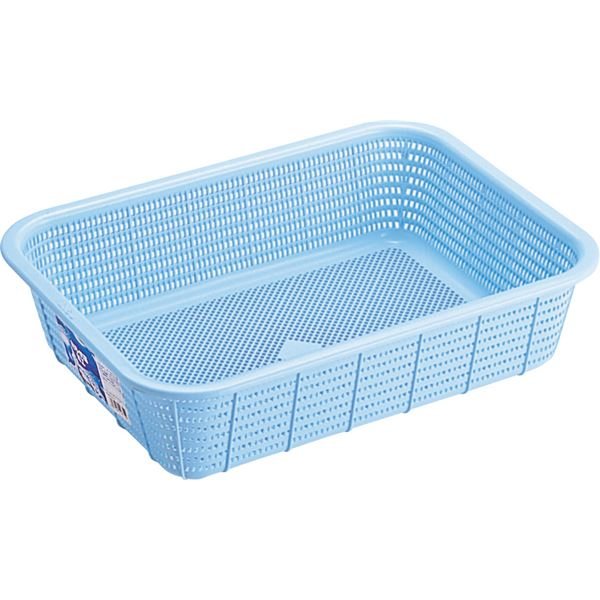 【40セット】 キッチンバスケット/キッチン用品 【Lサイズ】 ブルー 材質:PP メッシュ形状 『HOME&HOME』【代引不可】