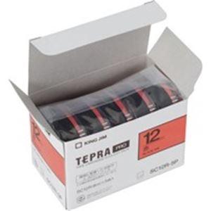 (業務用10セット) キングジム テプラ PROテープ/ラベルライター用テープ 【幅:12mm】 5個入り カラーラベル(赤) SC12R-5P