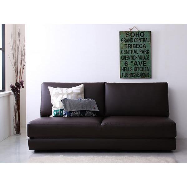ソファーベッド 幅160cm ブラウン ふたり寝られるモダンデザインソファベッド Nivelles ニヴェル【代引不可】