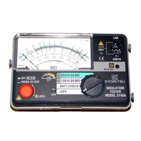 【スーパーSALE限定価格】共立電気計器 キューメグ 2レンジ小型絶縁抵抗計 3145A【代引不可】