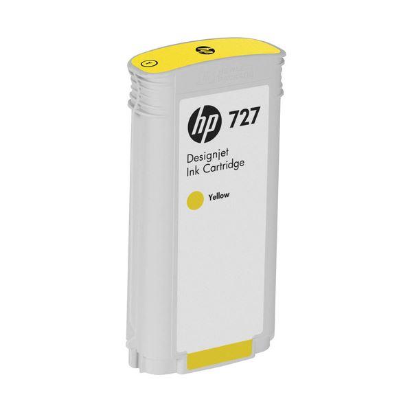 (まとめ) HP727 インクカートリッジ 染料イエロー 130ml B3P21A 1個 【×3セット】