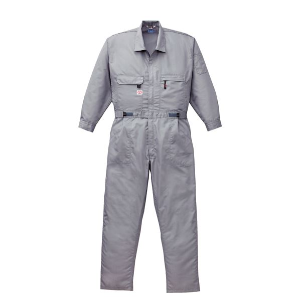 空調服/つなぎ 【ファンカラー:グレー カラー: グレー M】 綿・ポリ混紡 長袖ツヅキ服 リチウムバッテリーセット LIPRO2