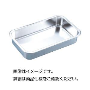 (まとめ)ステンレス長バット 浅型48A【×3セット】