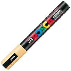 【スーパーSALE限定価格】(業務用200セット) 三菱鉛筆 ポスカ/POP用マーカー 【中字/うす橙】 水性インク PC-5M.54