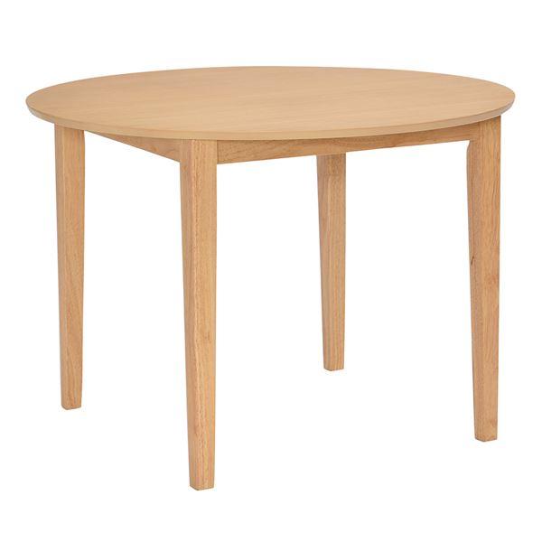 【単品】 円形 ダイニングテーブル 【ナチュラル】 100×100cm 木製【代引不可】