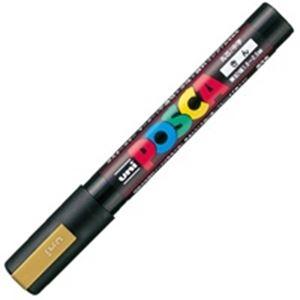 【スーパーSALE限定価格】(業務用200セット) 三菱鉛筆 ポスカ/POP用マーカー 【中字/金】 水性インク PC-5M.25