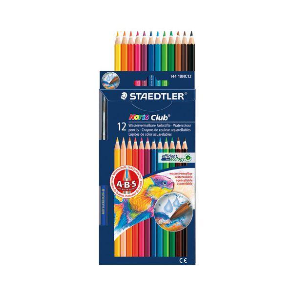 (まとめ) ステッドラー ノリスクラブ水彩色鉛筆12色 144 10NC12P【×10セット】