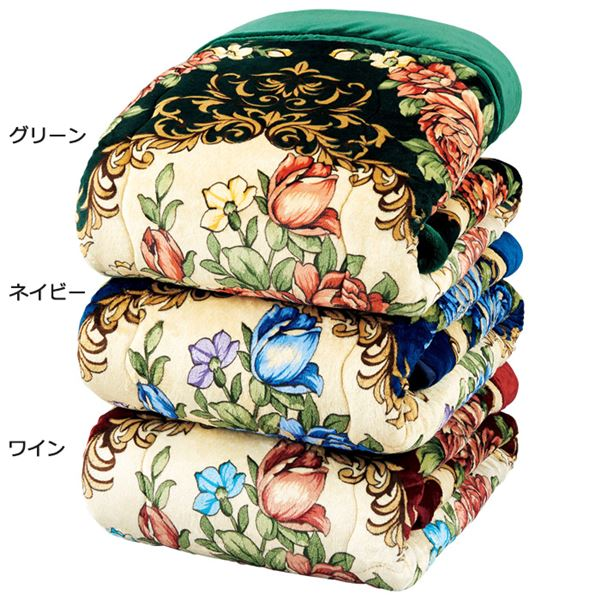 ボリュームたっぷり軽くて暖かい5層構造毛布セット 【シングル 3色組 グリーン・ネイビー・ワイン】 洗える 厚手 発熱 吸湿