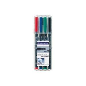 (業務用30セット) ステッドラー ルモカラー 317 WP4 油性細書 4色セット