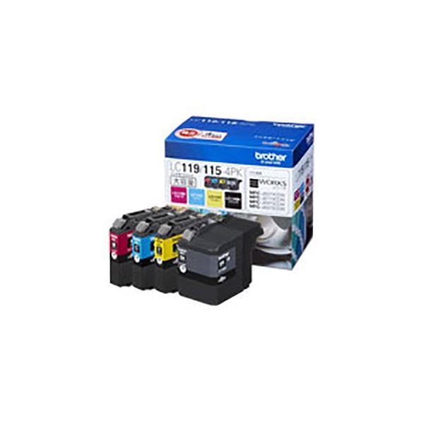 (業務用3セット) 【純正品】 BROTHER ブラザー インクカートリッジ 【LC119/115-4PK】 大容量 4色