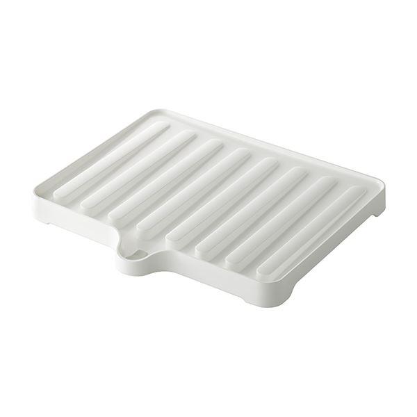 【60セット】 ドレーナー/水切り器具 【ホワイト】 38.4×34×3.5cm 本体:PP 『リベラリスタ』【代引不可】