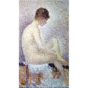 世界の名画シリーズ、プリハード複製画 ジョルジュ・スーラ作 「ポーズする女」【代引不可】