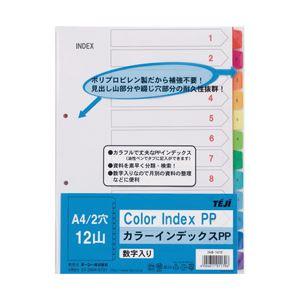 (業務用セット) テージー カラーインデックスPP 12色 A4タテ 1組 型番:INB-1412 【×20セット】