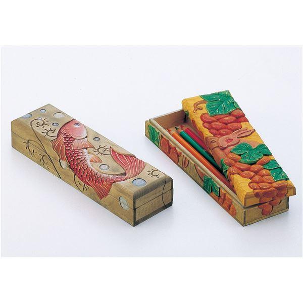 (まとめ)アーテック 木彫ふでばこ(しな材) 【×15セット】