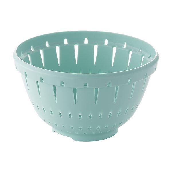 【50セット】 コランダー/水切りざる 【Sサイズ ブルーグリーン】 材質:PP 『リベラリスタ』【代引不可】