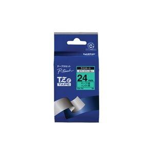 【スーパーSALE限定価格】(業務用30セット) brother ブラザー工業 文字テープ/ラベルプリンター用テープ 【幅:24mm】 TZe-751 緑に黒文字