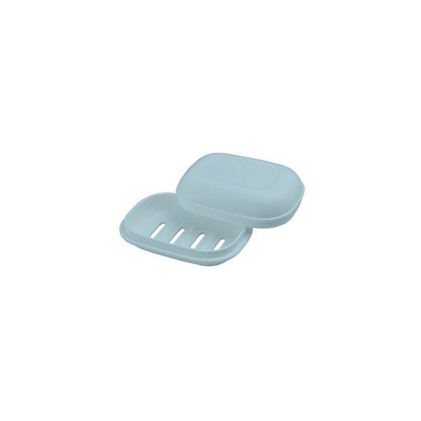 【60セット】 シンプル 石鹸箱/ 石鹸置き 【ブルー】 材質:PP 『HOME&HOME』【代引不可】