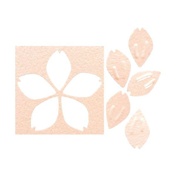 (まとめ) 花岡株式会社 エンボスパンチ さくら花びら【×10セット】