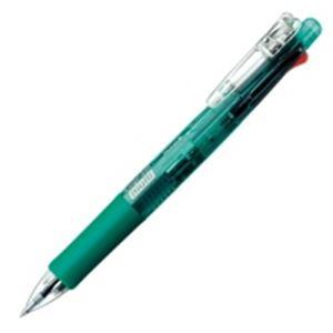 (業務用100セット) ZEBRA ゼブラ 多機能ペン クリップオンマルチ 【シャープ芯径0.5mm/ボール径0.7mm】 ノック式 B4SA1-G 緑