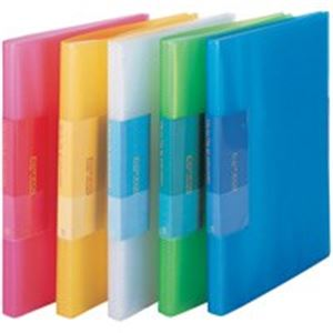 (業務用100セット) ビュートン 薄型クリアファイル/ポケットファイル 【A4】 40ポケット FCB-A4-40C レッド(赤)