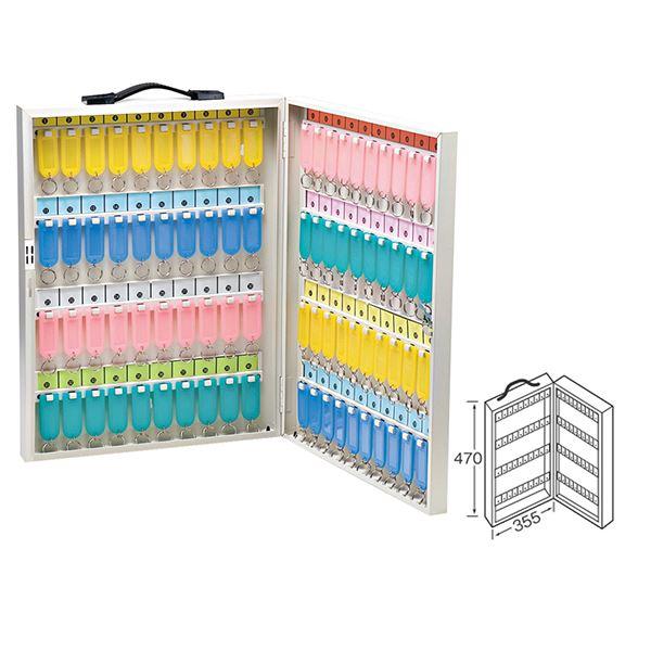 ワールドキーボックス/鍵収納箱 【携帯・壁掛け兼用型/80本掛用】 スチール製 水上金属 K-80