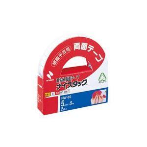(業務用200セット) ニチバン 両面テープ ナイスタック 【幅5mm×長さ9m】 2巻 NW-5S