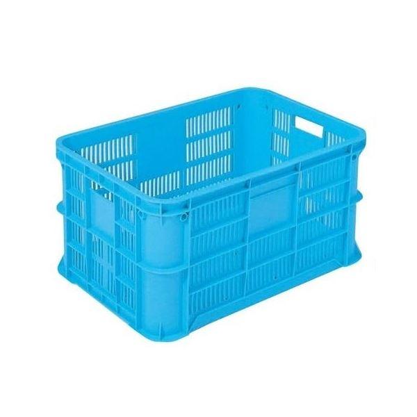 【5個セット】 リステナー/網目コンテナボックス 【MB-38】 ブルー メッシュ構造 〔みかん 果物 野菜等収穫 保管 保存 物流〕【代引不可】