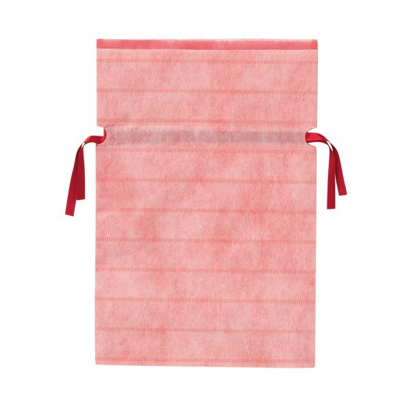 (業務用10セット) カクケイ 不織布リボン付き巾着袋 桃 M 10枚 FK3033