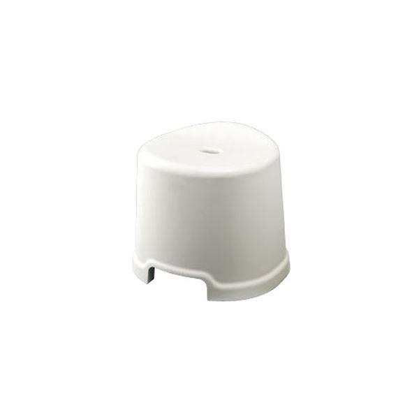 【16セット】 シンプル バスチェア/風呂椅子 【300 ホワイト】 すべり止め付き 材質:PP 『HOME&HOME』【代引不可】
