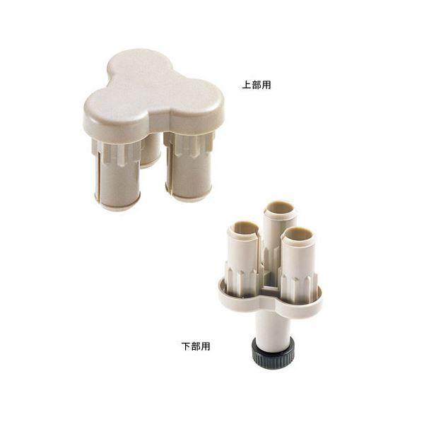(業務用10セット) ジョインテックス 衝立SPX 3方向連結樹脂上下セット SPX-3S
