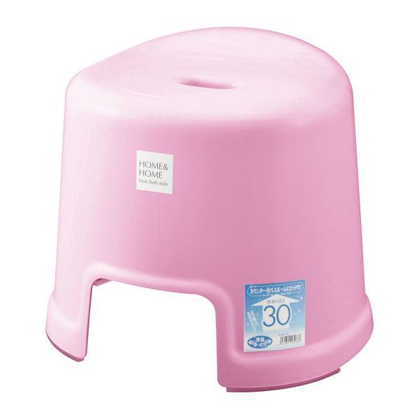 【16セット】 シンプル バスチェア/風呂椅子 【300 パステルピンク】 すべり止め付き 材質:PP 『HOME&HOME』【代引不可】