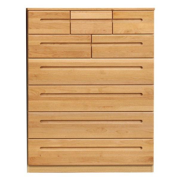 ハイチェスト/リビングチェスト 【6段/幅105cm】 木製 日本製ナチュラル 【HUMMING】ハミング 【完成品】【代引不可】