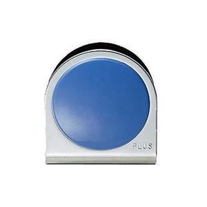 【スーパーSALE限定価格】(業務用100セット) プラス カラーマグネット クリップ 小 青