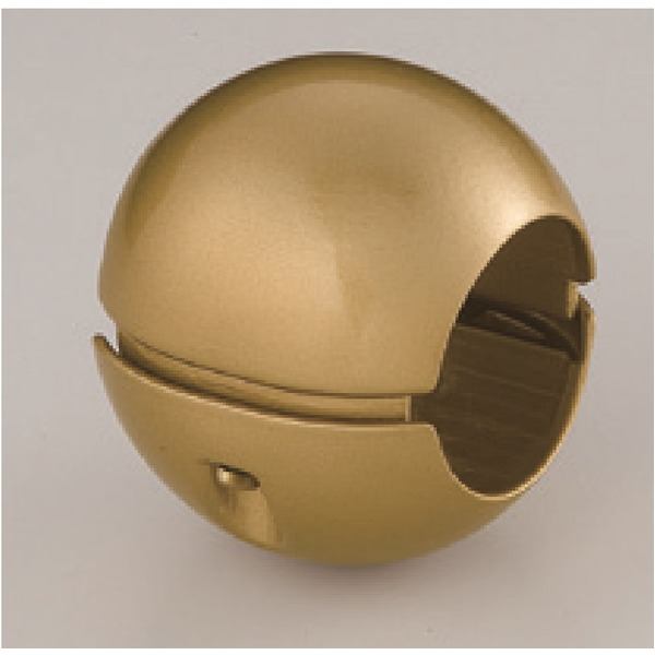 【10個セット】階段手すり滑り止め 『どこでもグリップ』ボール形 亜鉛合金 直径38mm AG シロクマ 日本製