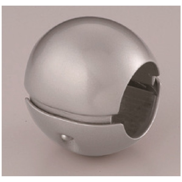【10個セット】階段手すり滑り止め 『どこでもグリップ』ボール形 亜鉛合金 直径38mm シルバー シロクマ 日本製