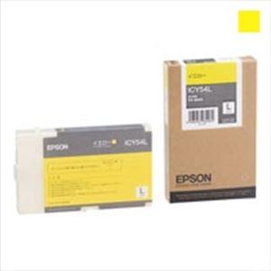 (業務用3セット) EPSON エプソン インクカートリッジ L 純正 【ICY54L】 イエロー(黄)