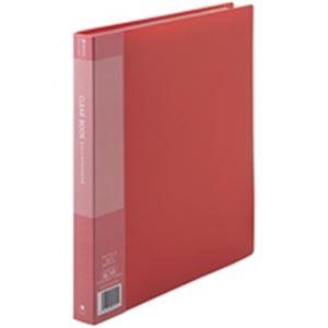 (業務用5セット) ジョインテックス クリアファイル/ポケットファイル 【A4/タテ型 10冊入り】 40ポケット 赤 D048J-10RD