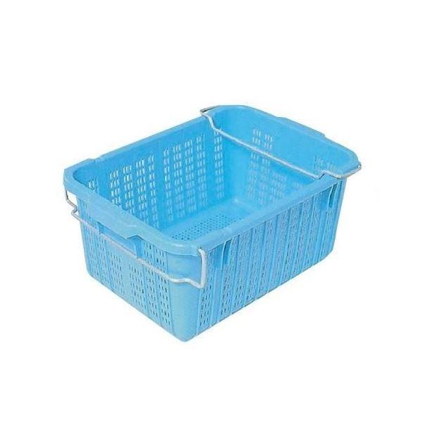 【10個セット】プラスケットNo.450 金具付き ブルー コンテナ【代引不可】