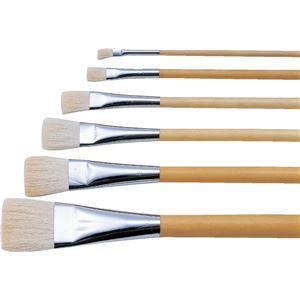 (まとめ)アーテック 日本画筆/描画用具 【平筆 9号】 ポスター用 白毛/羊毛 【×10セット】