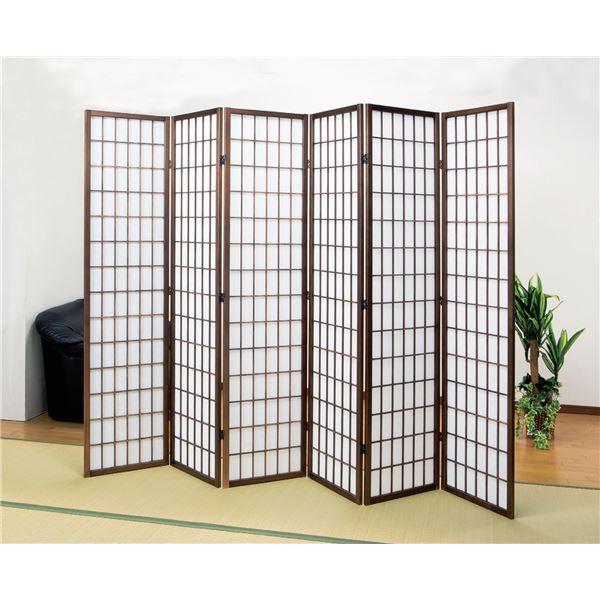 パーテーション/衝立/障子スクリーン6連 高さ178.5cm 木製フレーム【代引不可】