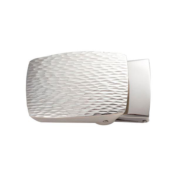 ベルトバックル ゴザ目 茣蓙目 3cmベルト幅用 銀製 磨き仕上げ 日本伝統工芸品 ハンドメイド スターリングシルバー