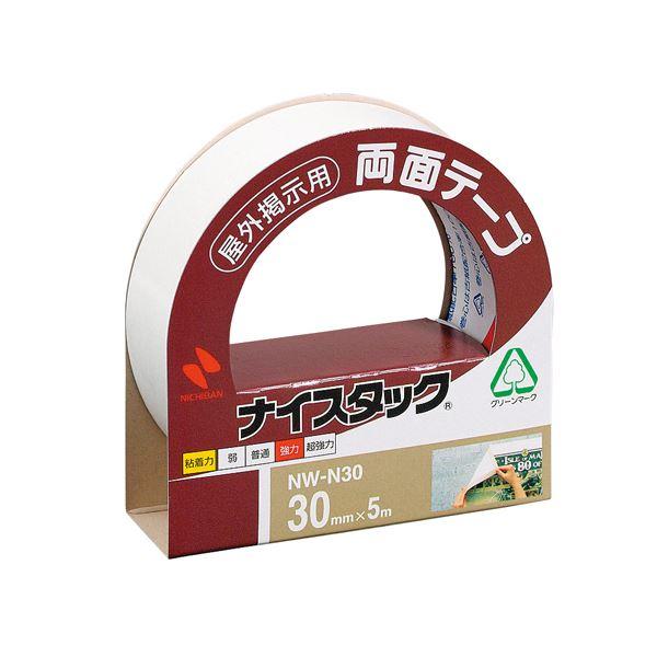 (まとめ) ニチバン ナイスタック 両面テープ 屋外掲示用 大巻 30mm×5m NW-N30 1巻 【×20セット】